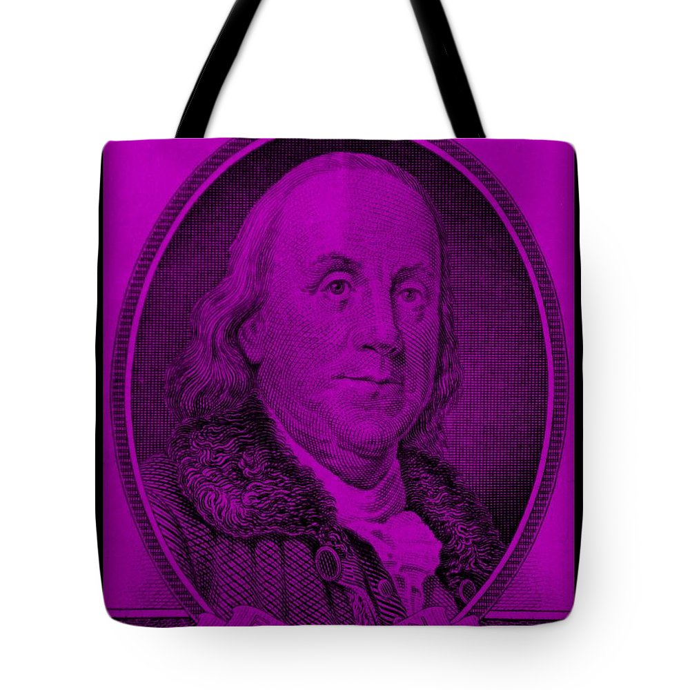 Ben Franklin Tote Bag featuring the photograph Ben Franklin In Purple by Rob Hans