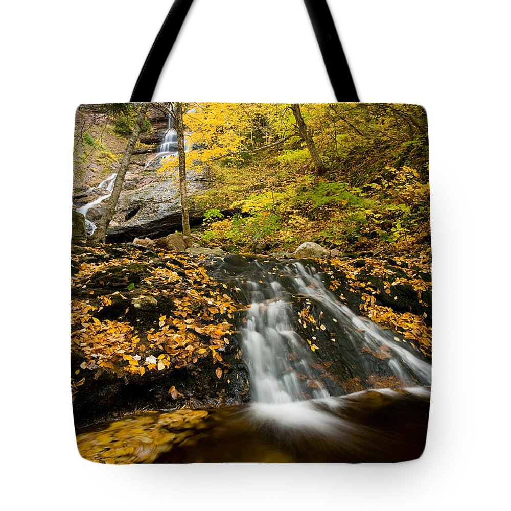 Beulach Ban Falls Tote Bag featuring the photograph Beulach Ban Falls, Cape Breton by John Sylvester
