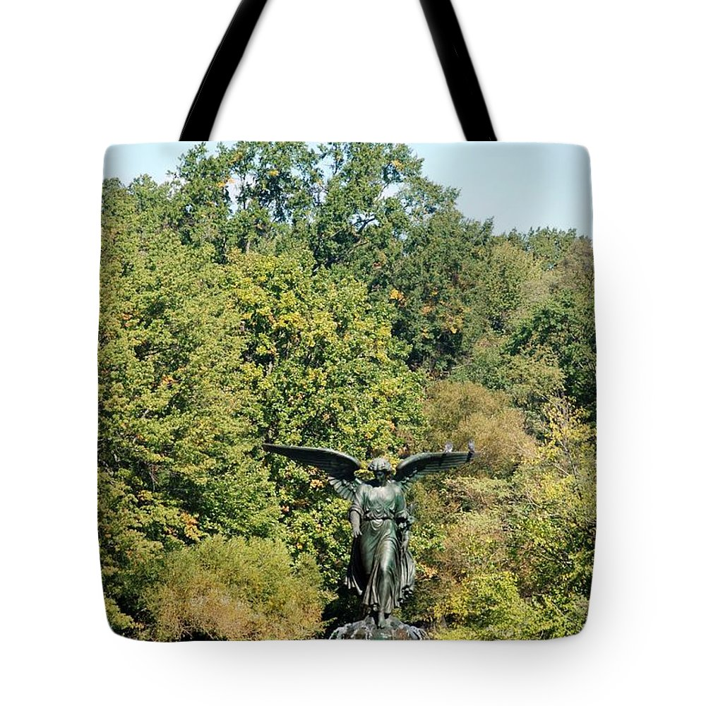 Central Park Tote Bag featuring the photograph Birdbath Of Central Park by Rob Hans