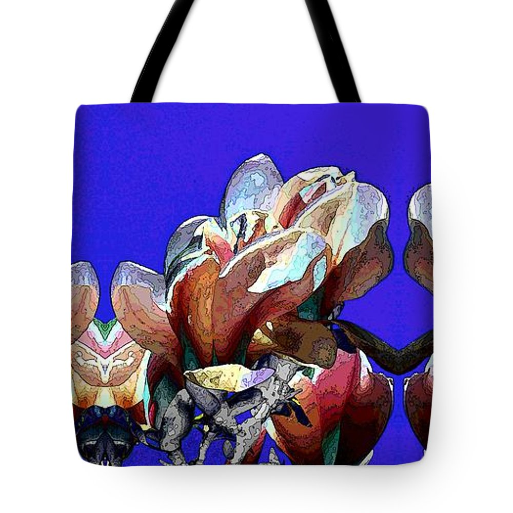 Bloomers Tote Bag featuring the digital art Bloomers by Tim Allen