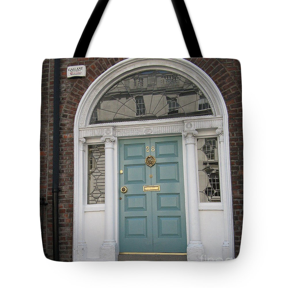 Closed Door Tote Bag featuring the photograph Blue Door by Arlene Carmel