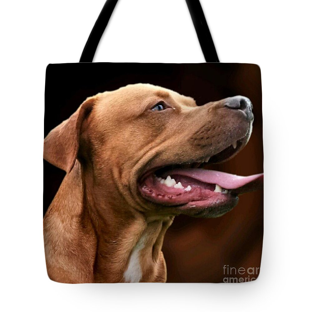 Dog Tote Bag featuring the photograph Blue The Rhodesian by YoursByShores Isabella Shores