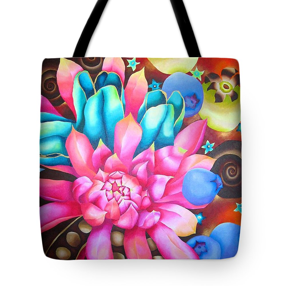 Pink Bloom Tote Bag featuring the painting Blush by Elizabeth Elequin