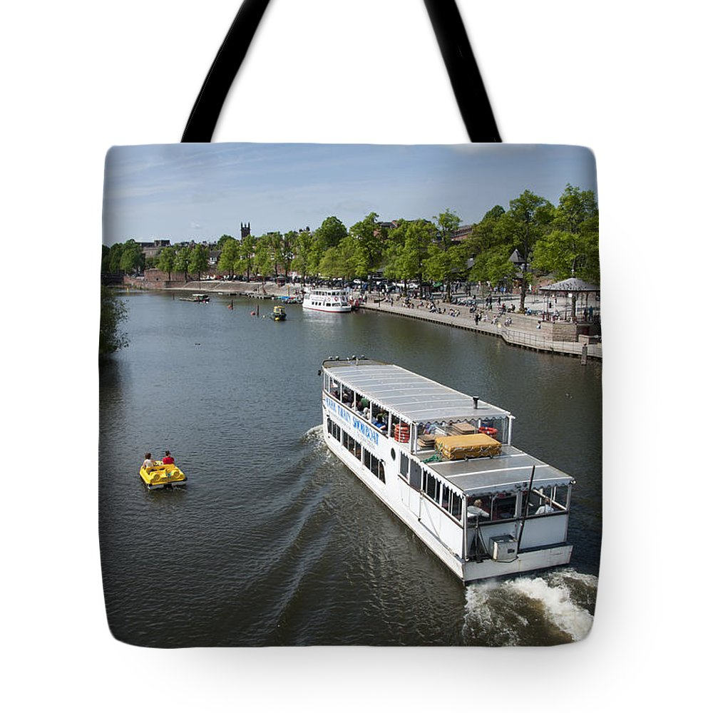 2011 Tote Bag featuring the photograph Boats On River Dee by Andrew Michael