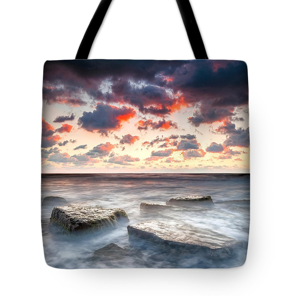 Black Sea Tote Bag featuring the photograph Boiling Sea by Evgeni Dinev