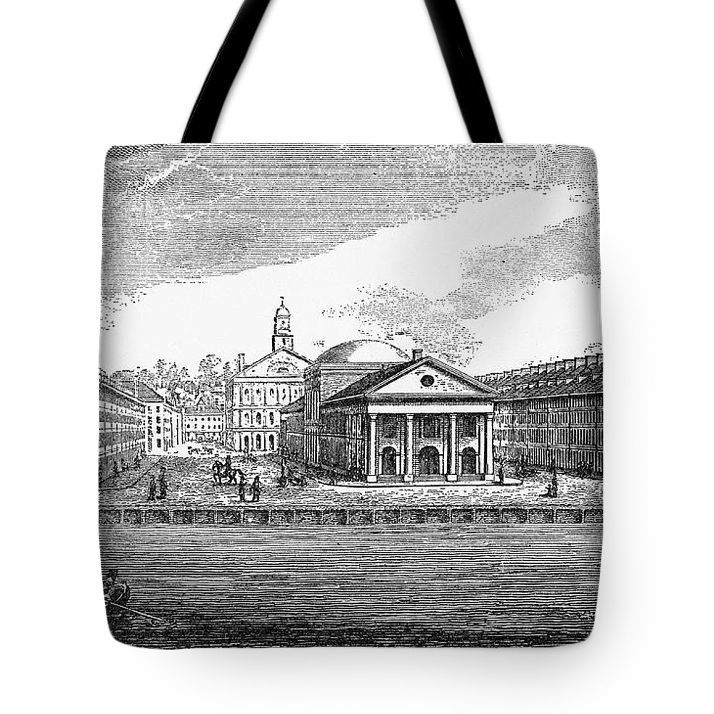 19th Century Tote Bag featuring the photograph Boston: Quincy Market by Granger