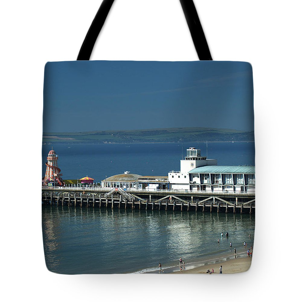 Bournemouth Tote Bag featuring the photograph Bournemouth Pier by Chris Day