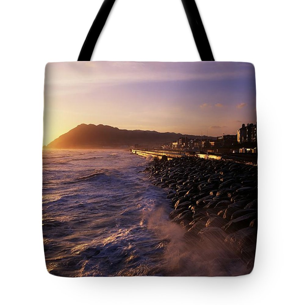 Beach Tote Bag featuring the photograph Bray Promenade, Co Wicklow, Ireland by The Irish Image Collection