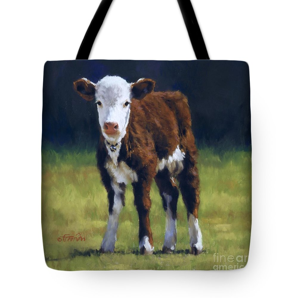 Cow Tote Bag featuring the pastel Butterball by Brian Freeman