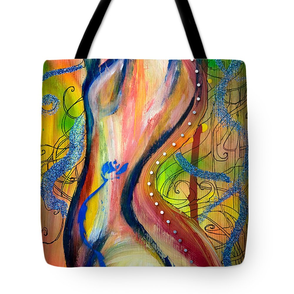 Female Tote Bag featuring the painting Butterfly Caught II by Sheridan Furrer