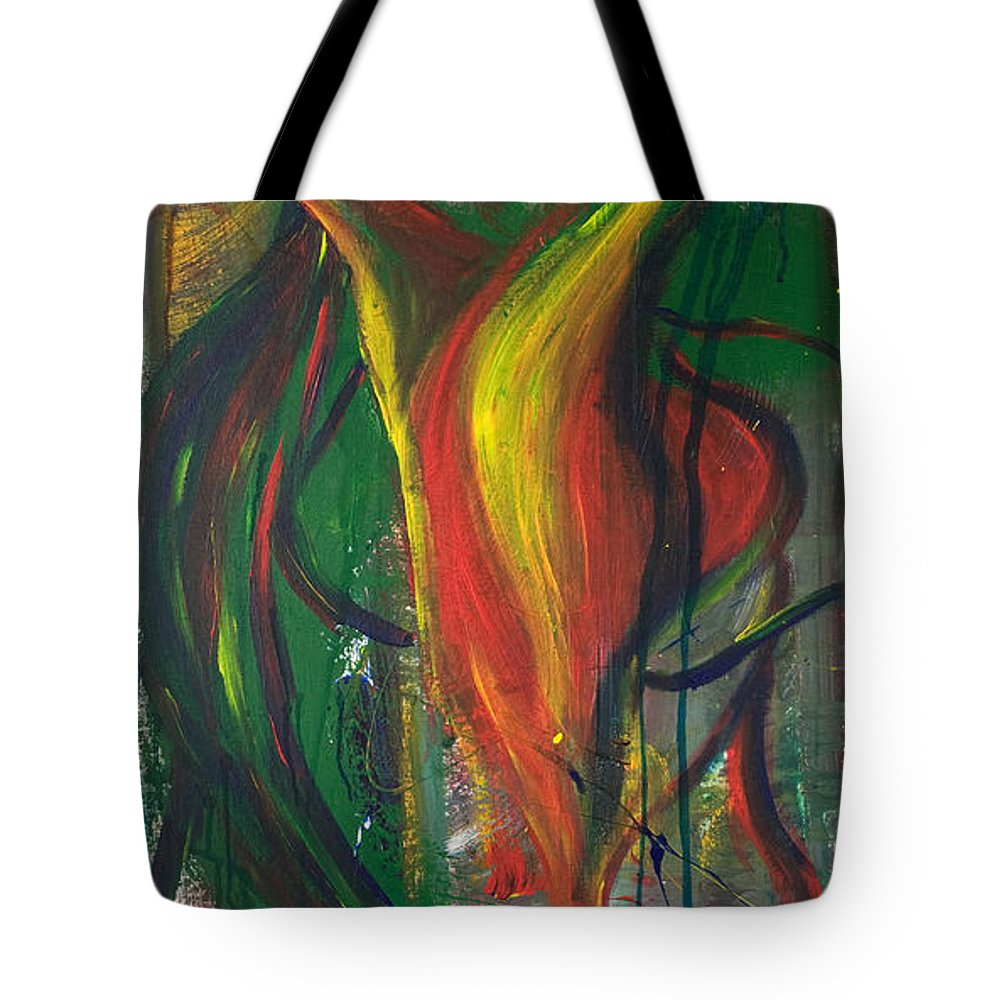 Female Tote Bag featuring the painting Butterfly Caught by Sheridan Furrer
