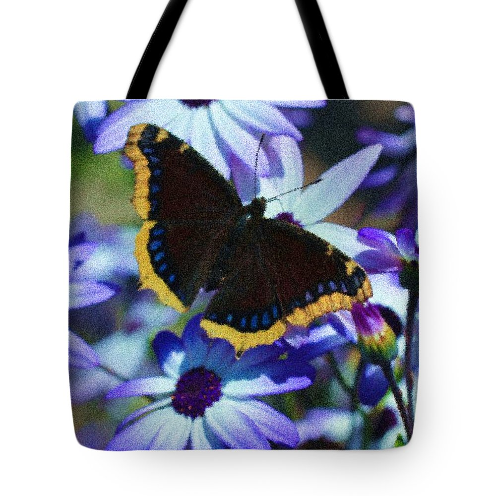 Tote Bag featuring the photograph Butterfly In Blue by Heidi Smith