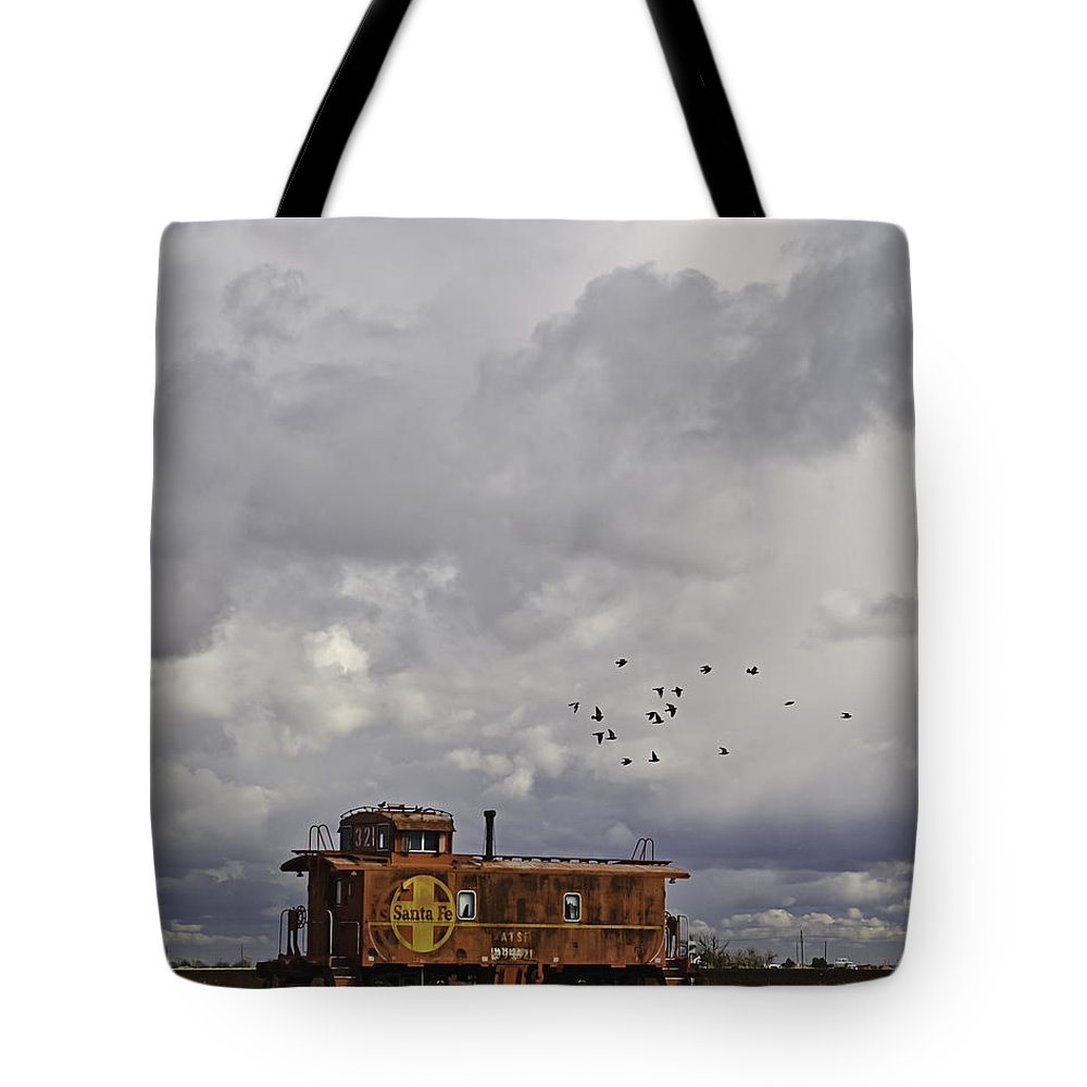Abandoned Tote Bag featuring the photograph Caboose In A Cotton Field by Melany Sarafis