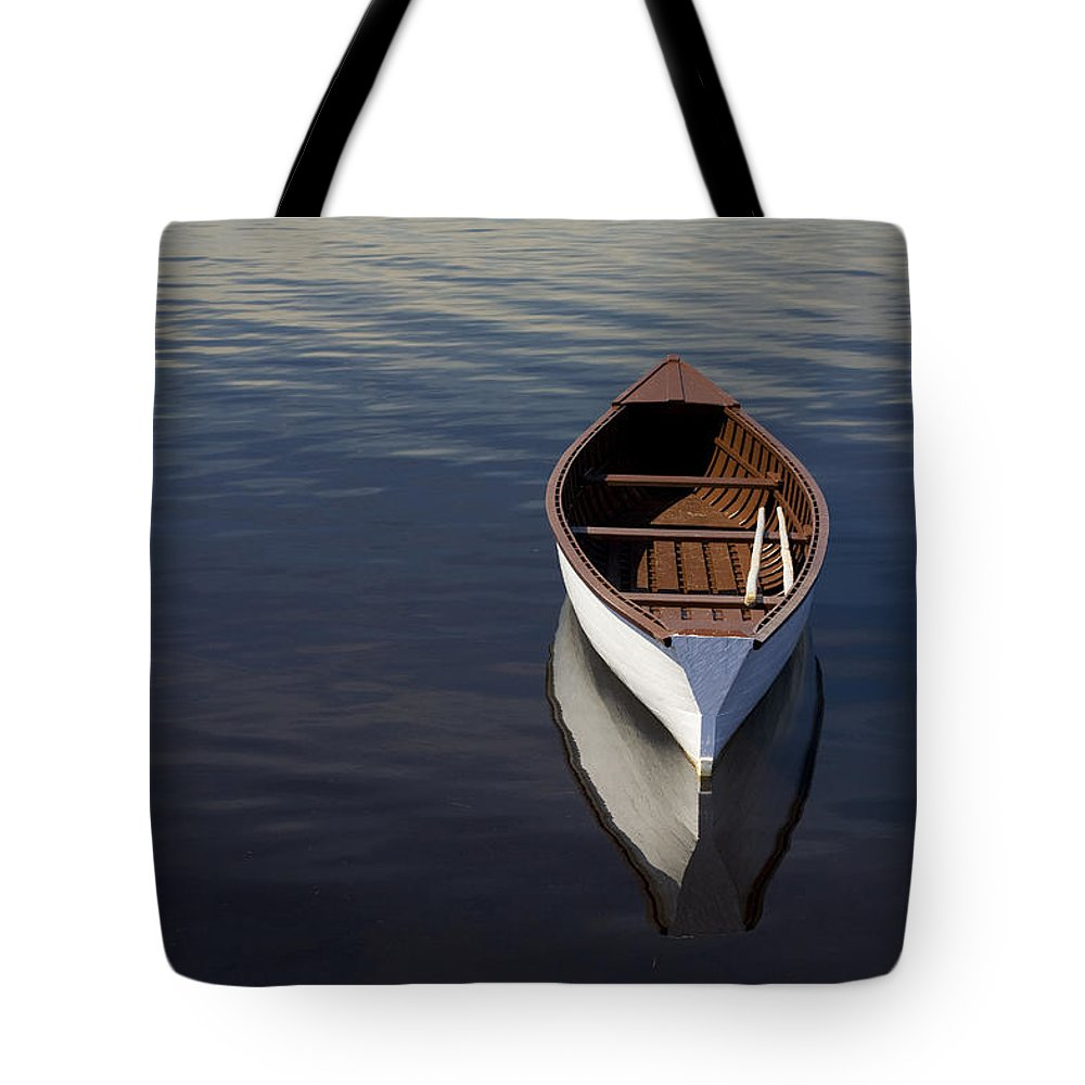 Canoes Tote Bag featuring the photograph Canoe On Gander River, Gander Bay by John Sylvester