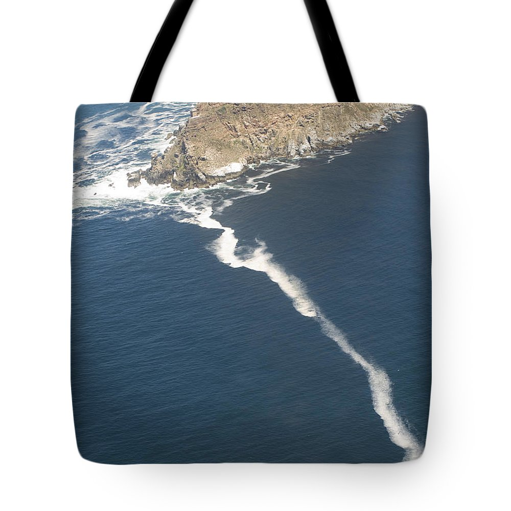 Indian Ocean Tote Bag featuring the photograph Cape Point, The Dividing Point by Stacy Gold