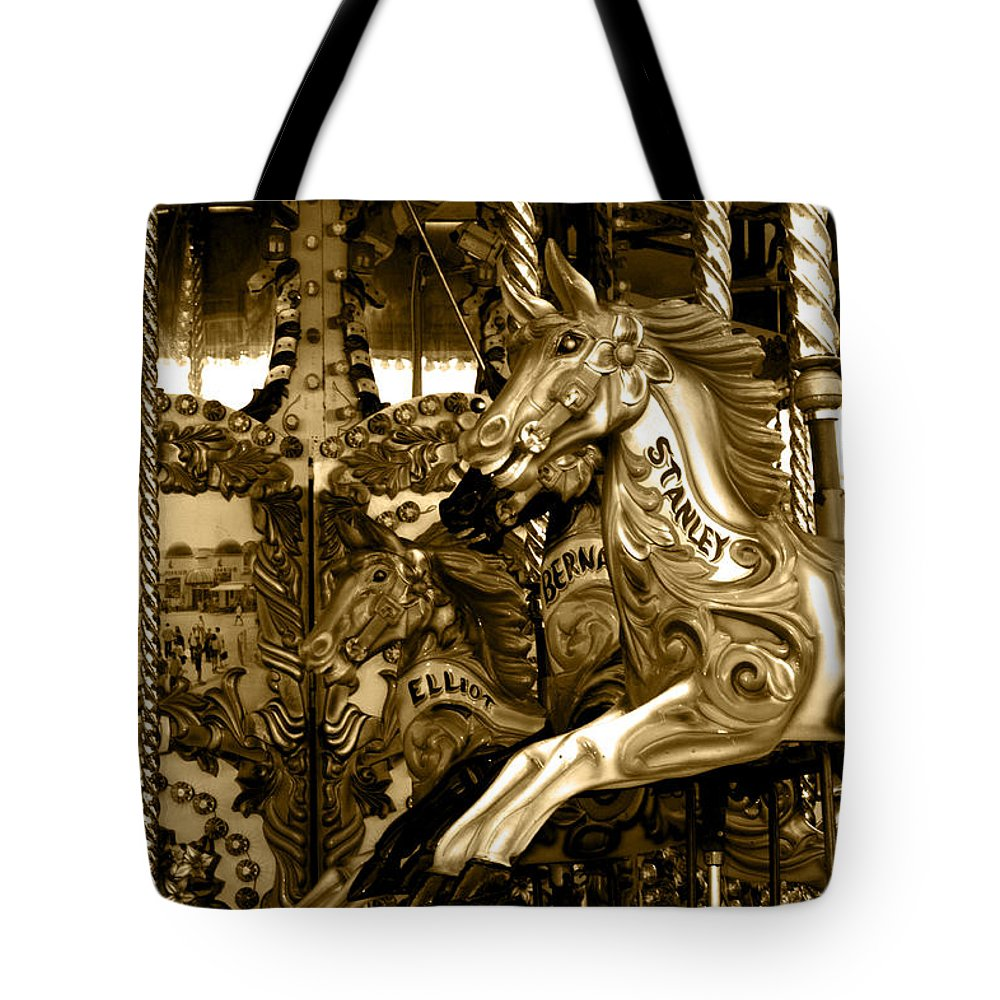 Carousel Tote Bag featuring the photograph Carousel by Chris Day