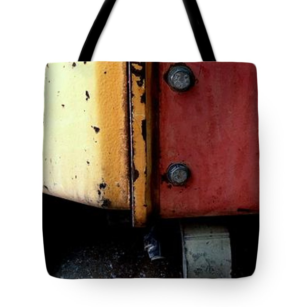 Caterpillar Tote Bag featuring the photograph Caterpillar by Marlene Burns