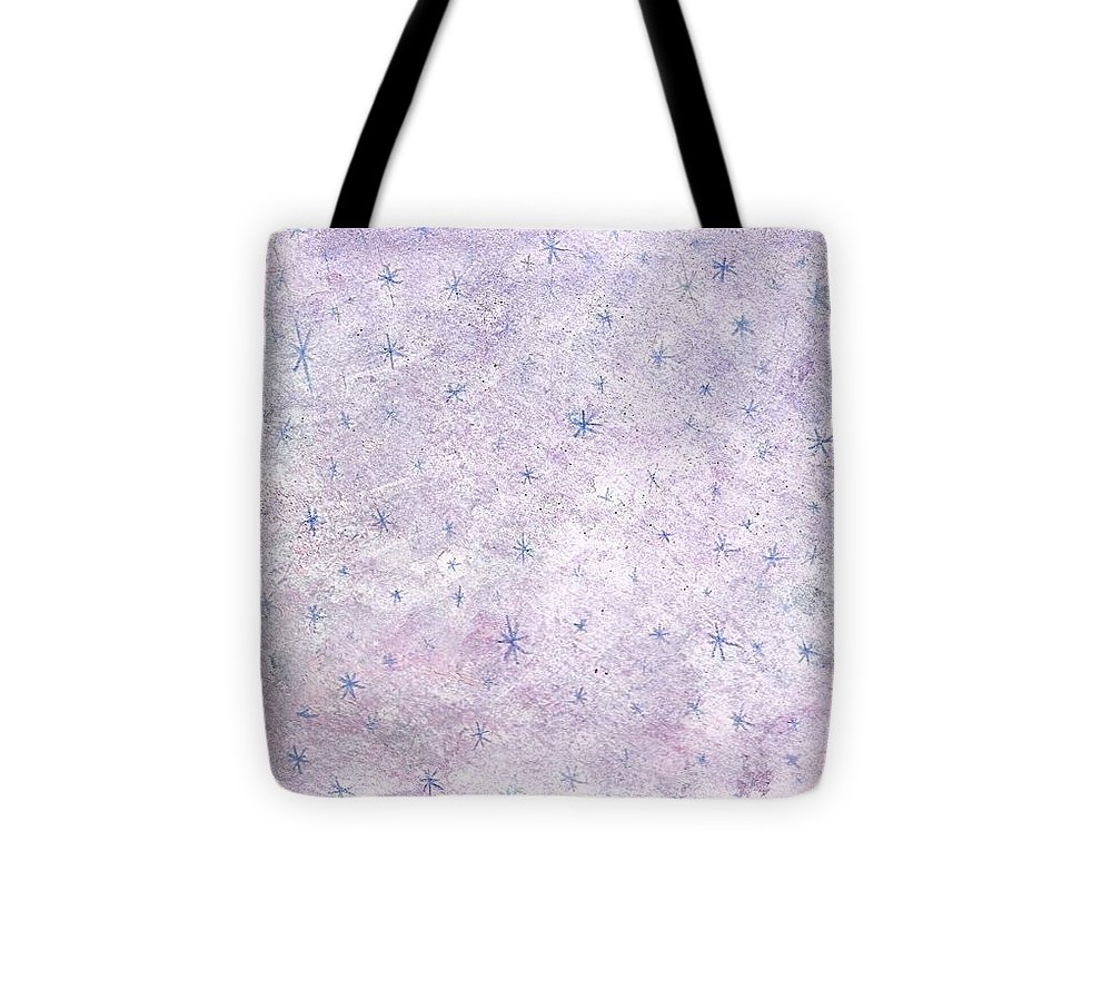 Christmas Tote Bag featuring the painting Christmas Snowflakes by Kristina Kannarr