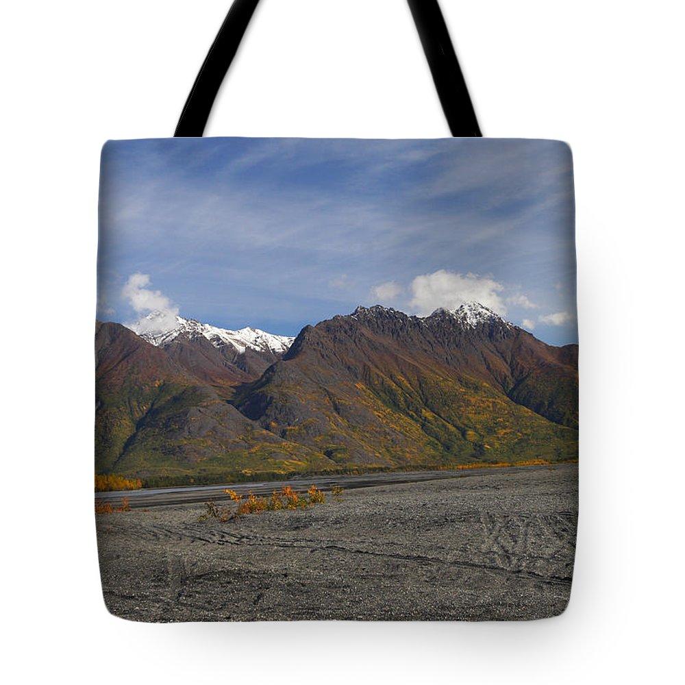 Doug Lloyd Tote Bag featuring the photograph Chugach Fall by Doug Lloyd