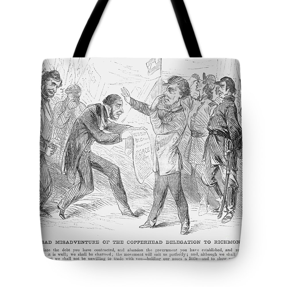 1863 Tote Bag featuring the photograph Civil War: Copperhead, 1863 by Granger