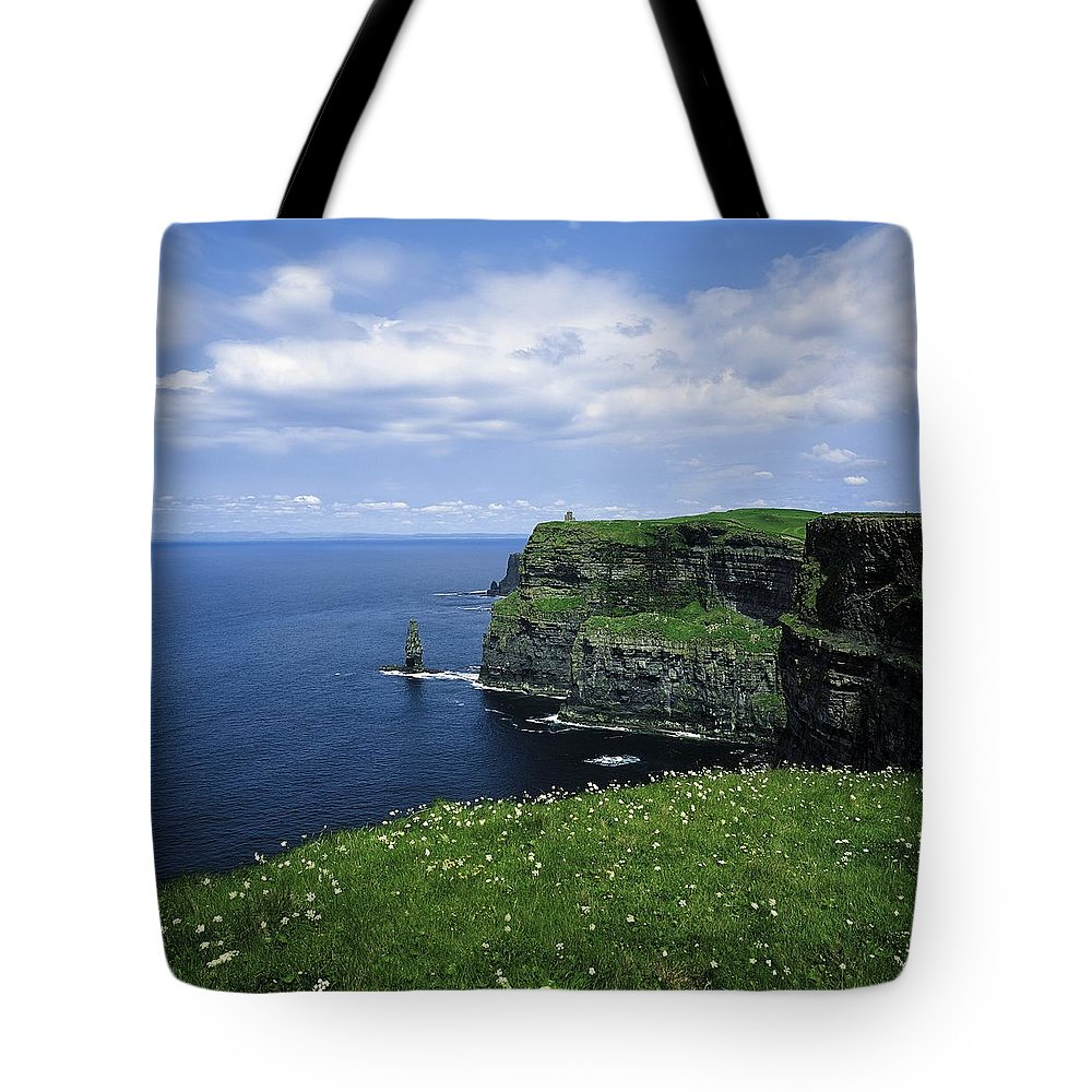 Blossom Tote Bag featuring the photograph Cliffs Of Moher, Co Clare, Ireland by The Irish Image Collection