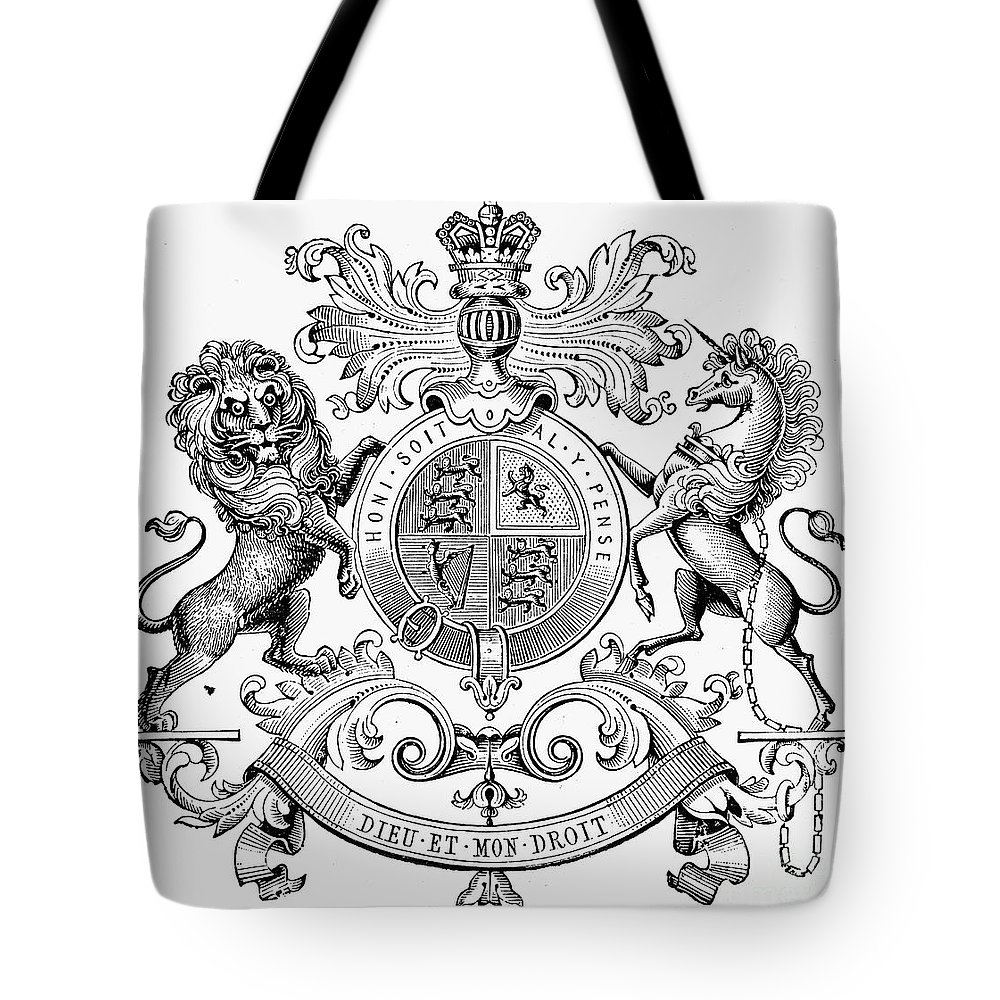 19th Century Tote Bag featuring the photograph Coat Of Arms: Great Britain by Granger