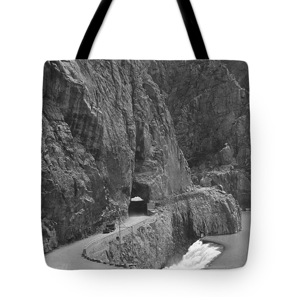 Cody Road Tote Bag featuring the photograph Cody Road by Bonfire Photography