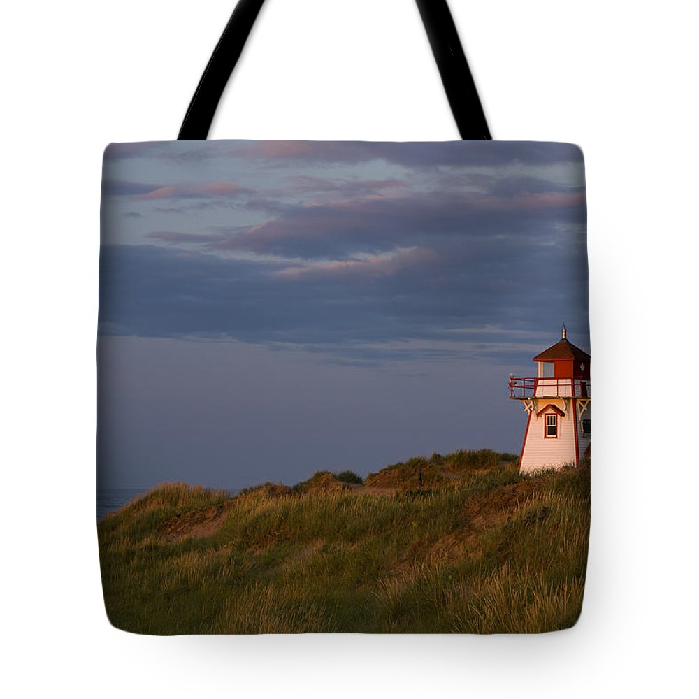 Canadian Tote Bag featuring the photograph Covehead Lighthouse, Prince Edward by John Sylvester