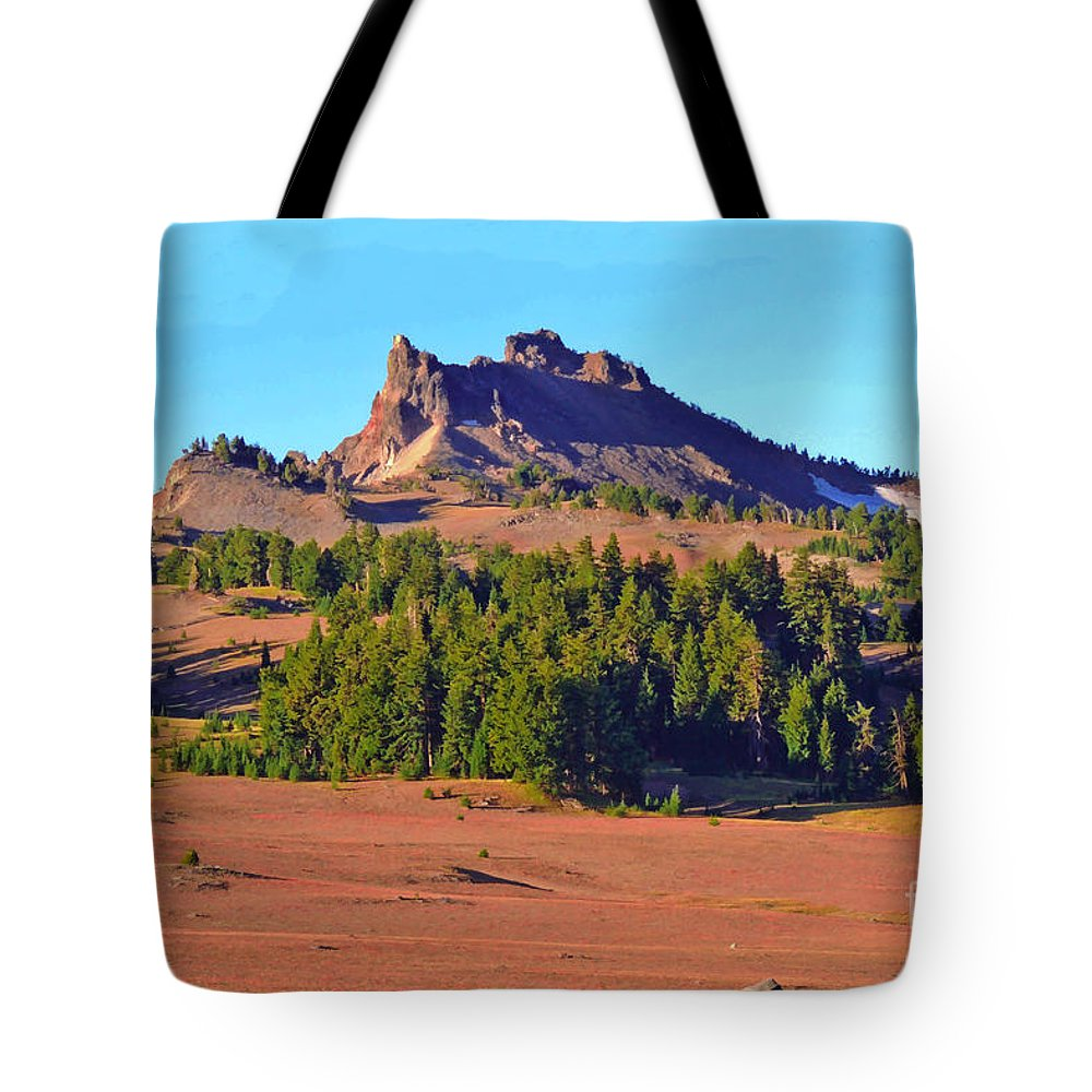 Ground Cover Tote Bag featuring the digital art Crater Lake Carpet by L J Oakes
