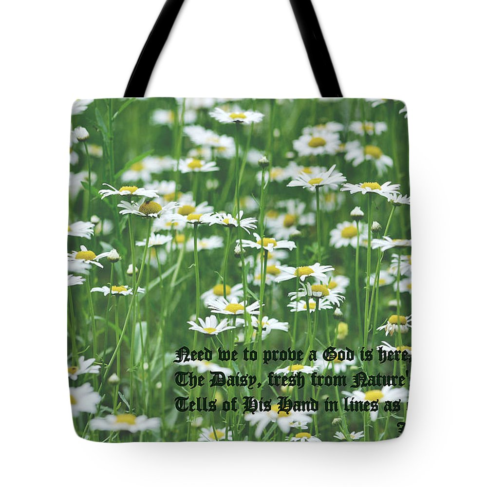 Daisy Tote Bag featuring the photograph Daisy Fresh by Kristin Elmquist