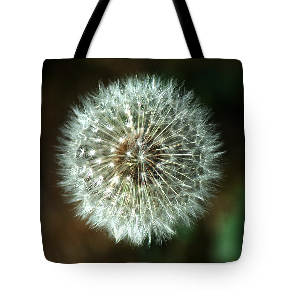 Dandelion Tote Bag featuring the photograph Dandelion Seed Head by Chris Day