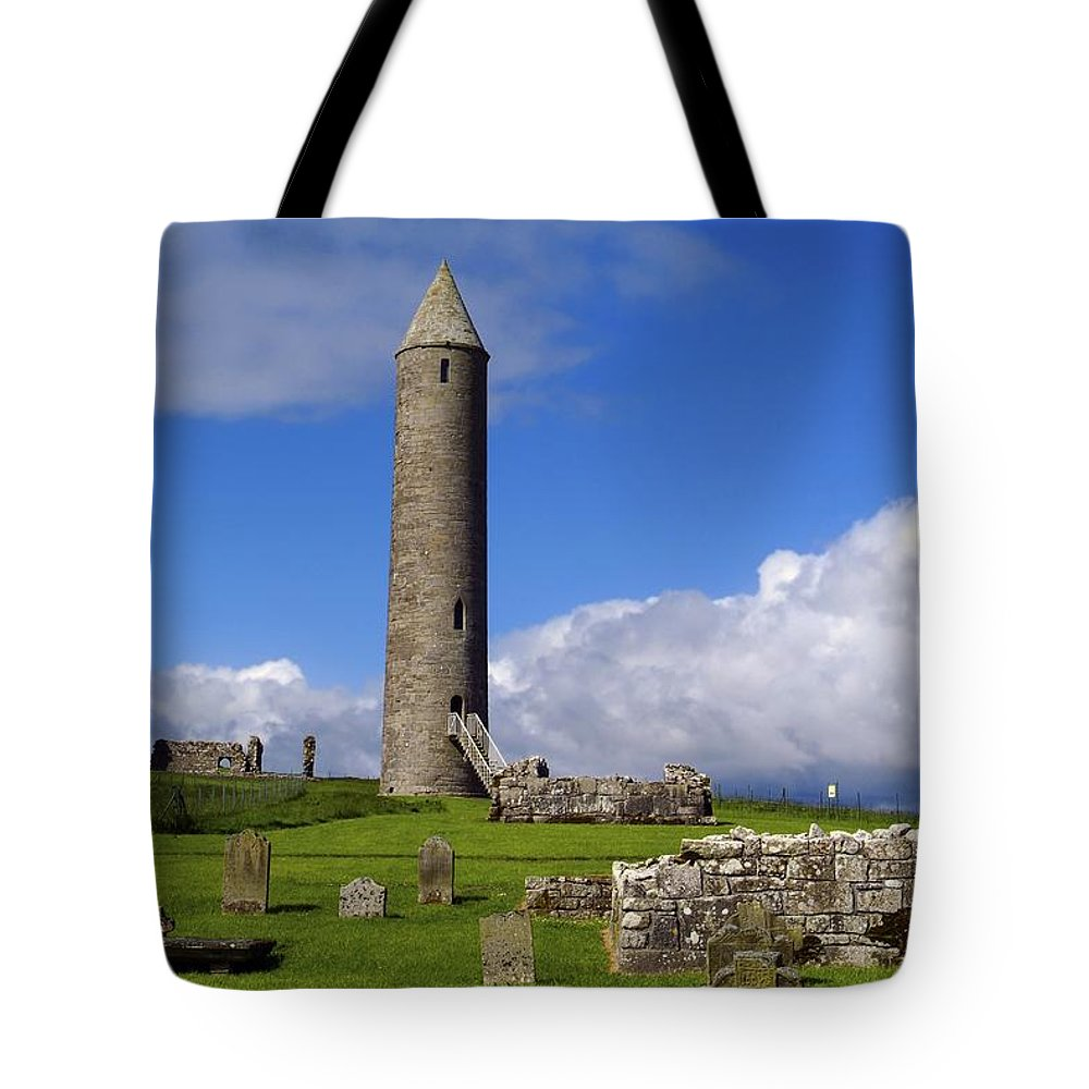 Architectural Exteriors Tote Bag featuring the photograph Devenish Monastic Site, Co. Fermanagh by The Irish Image Collection