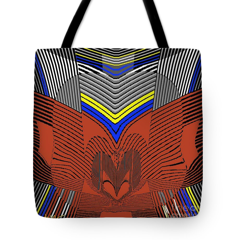 Paintings Tote Bag featuring the painting Digital Design 330 by Nedunseralathan R
