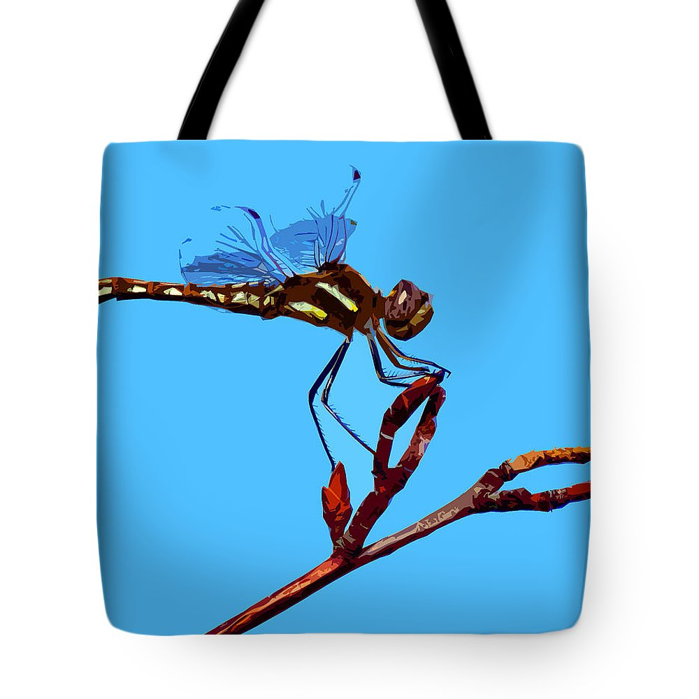 Dragonfly Tote Bag featuring the photograph Dragonfly Art by Ben Upham III