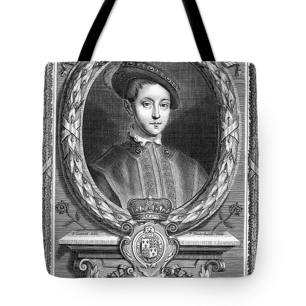 16th Century Tote Bag featuring the photograph Edward Vi (1537-1553) by Granger