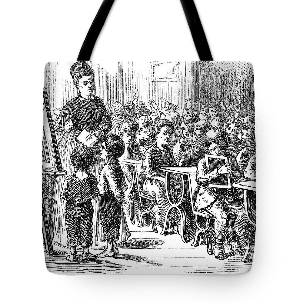 1873 Tote Bag featuring the photograph Elementary School, 1873 by Granger