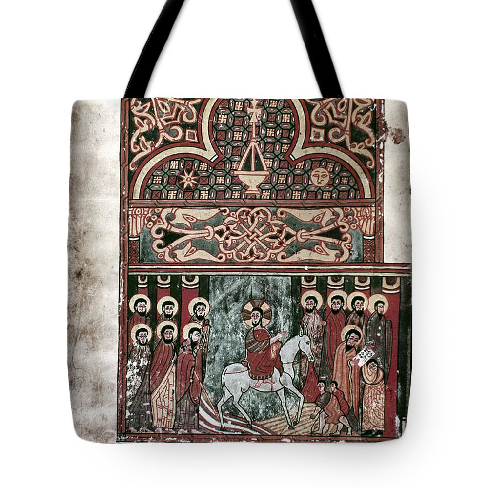 1420 Tote Bag featuring the photograph Entry Into Jerusalem by Granger