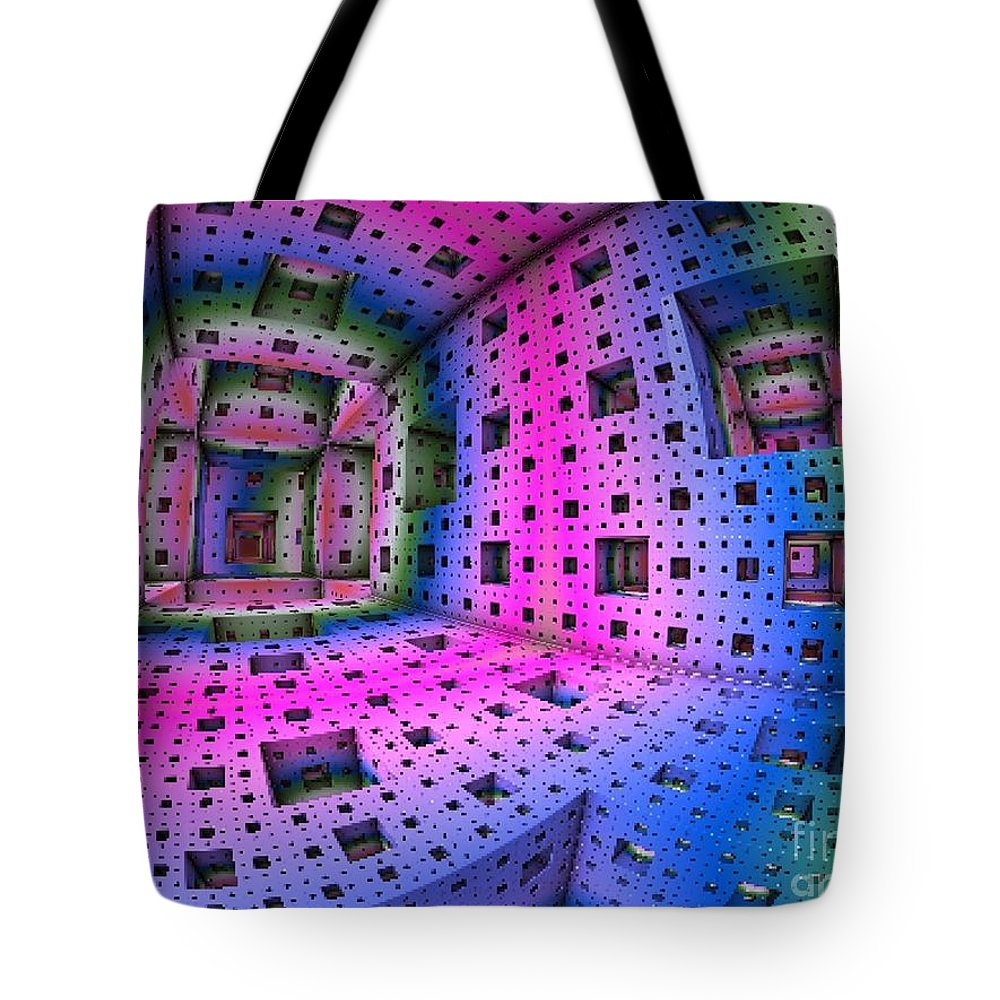 Magenta Tote Bag featuring the digital art Entry1 by Vicki Lynn Sodora