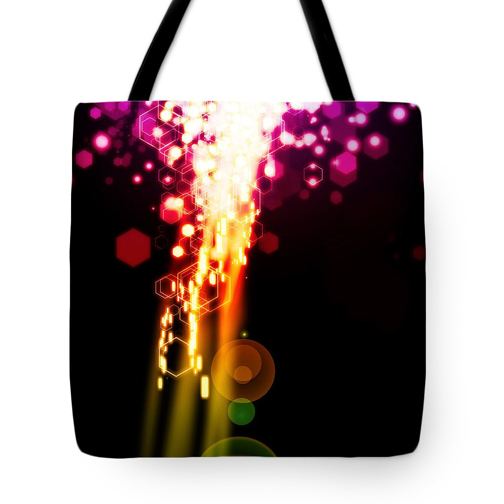 Abstract Tote Bag featuring the photograph Explosion Of Lights by Setsiri Silapasuwanchai