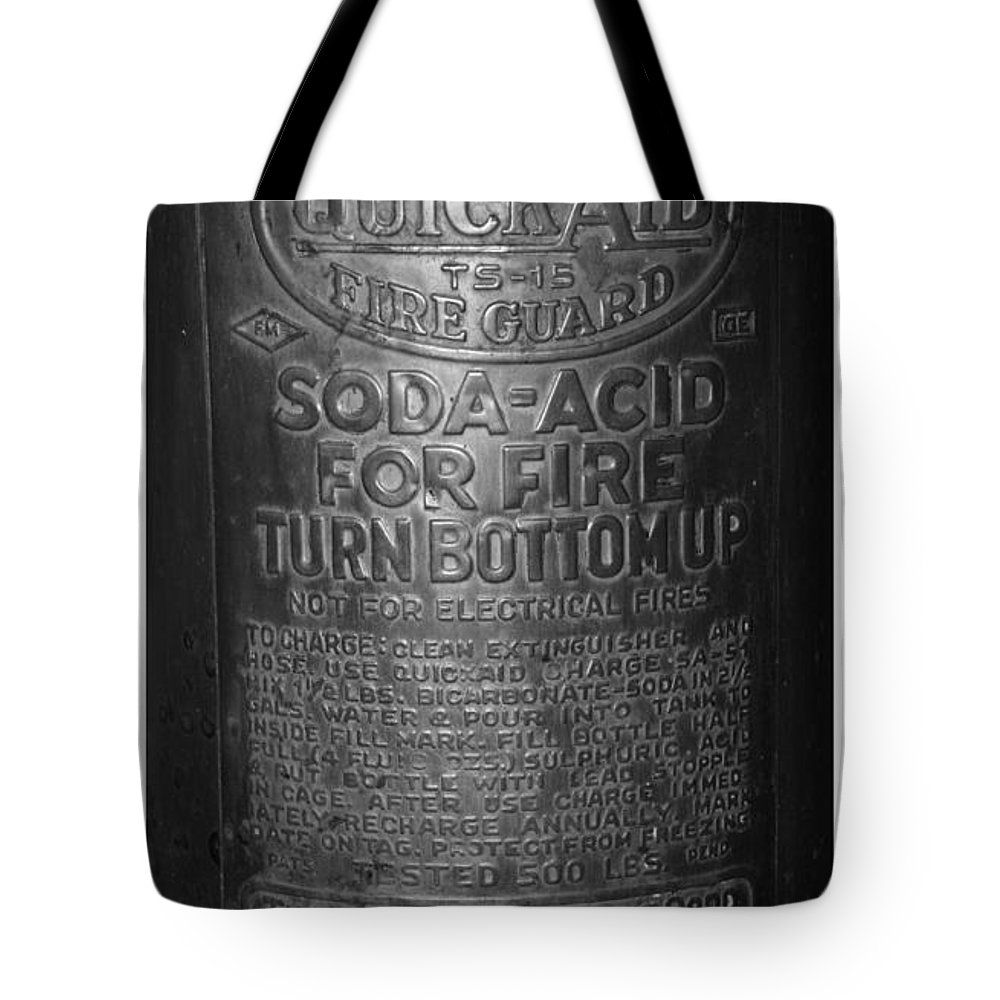 Fire Extinguisher Tote Bag featuring the photograph Fire Extinguisher by Rob Hans