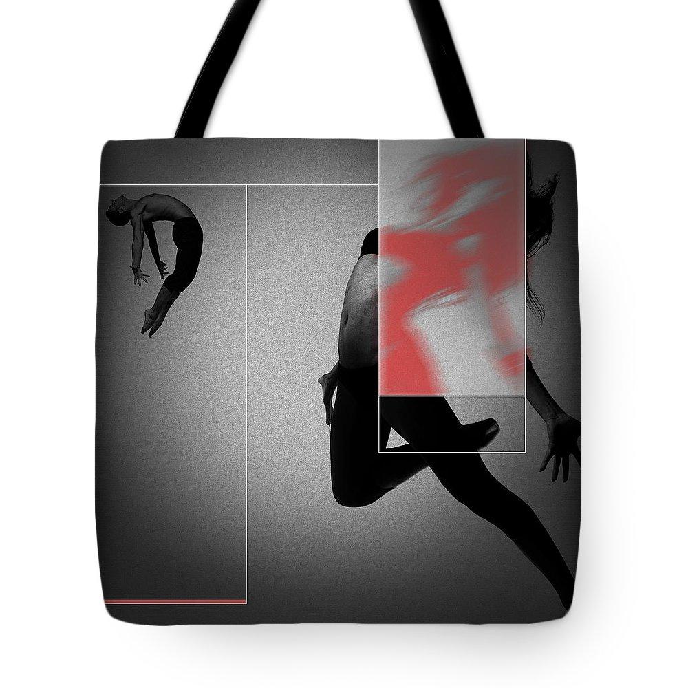 Couple Tote Bag featuring the digital art Flight 1 by Naxart Studio