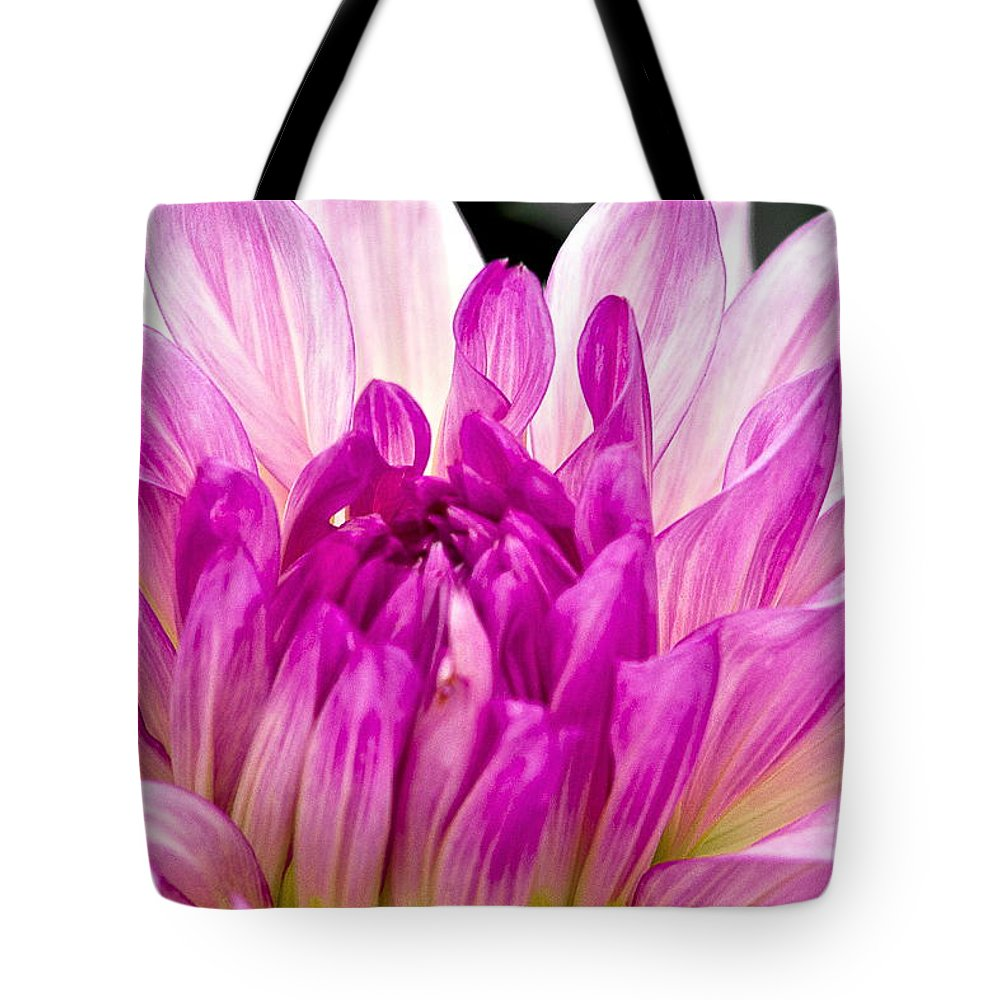 Pink And White Flower Tote Bag featuring the photograph Flower 11 by Burney Lieberman