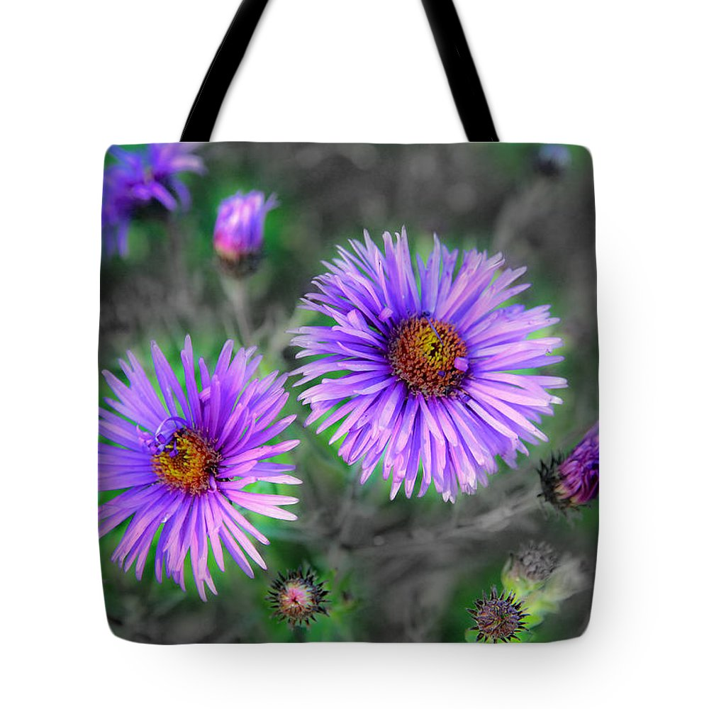 Flowers Tote Bag featuring the photograph Flower Patterns by Steve McKinzie