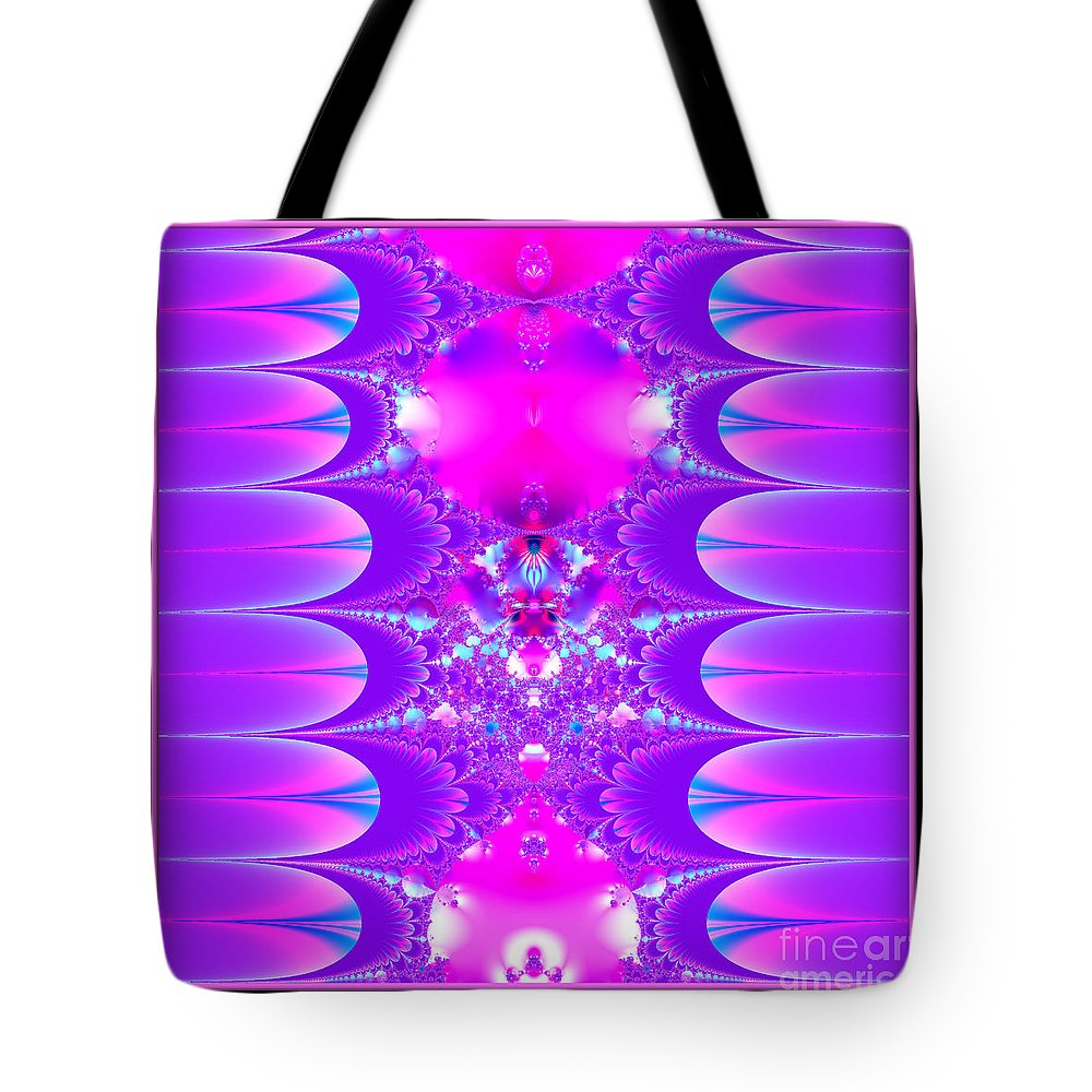 Purple Tote Bag featuring the photograph Fractal 16 Purple Passion by Rose Santuci-Sofranko