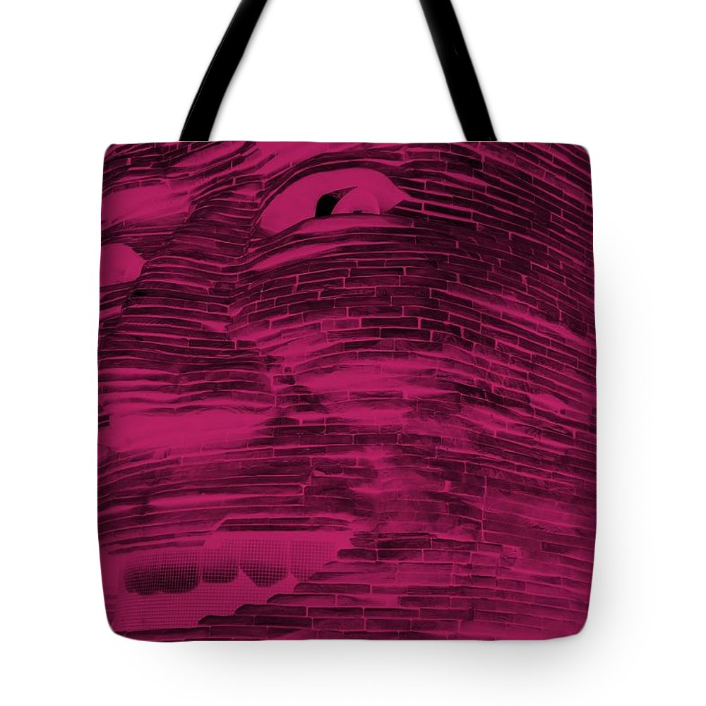 Architecture Tote Bag featuring the photograph Gentle Giant In Hot Pink by Rob Hans
