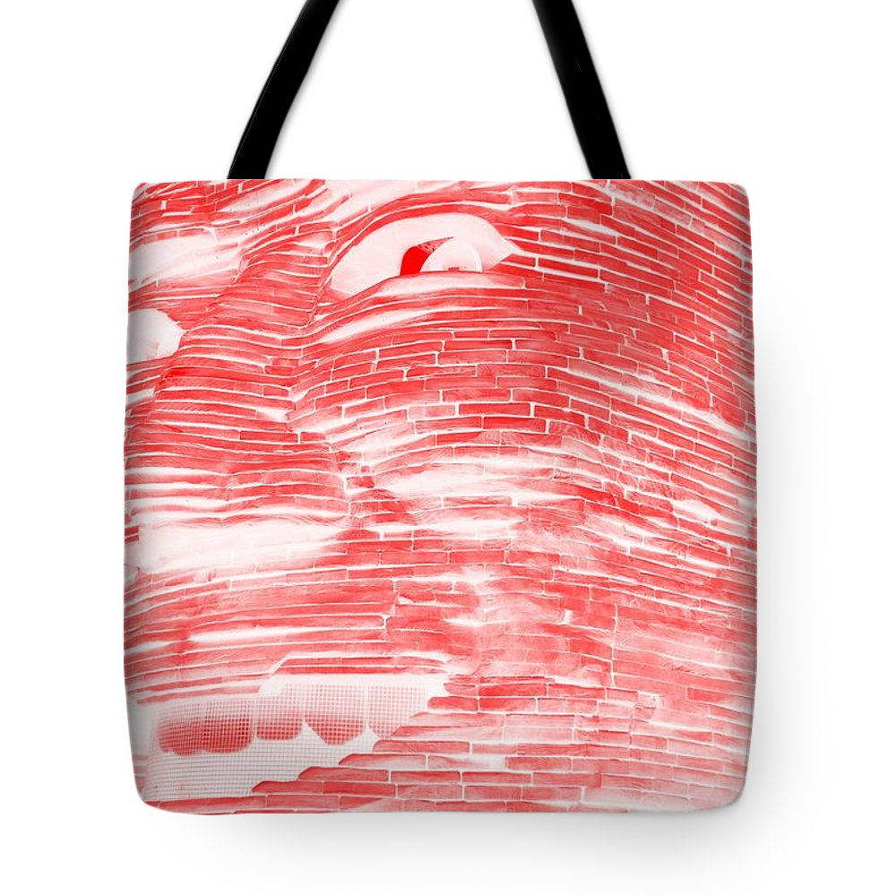 Architecture Tote Bag featuring the photograph Gentle Giant In Negative Red by Rob Hans