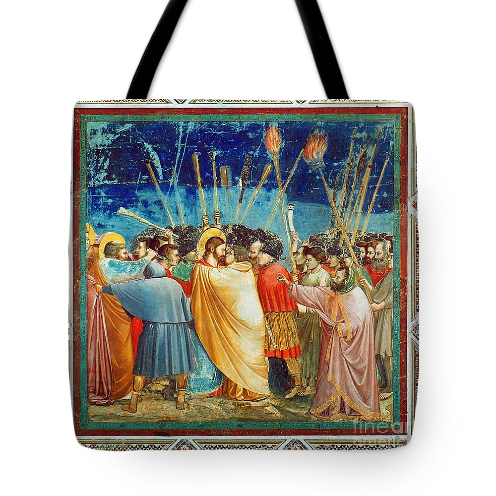 Apostle Tote Bag featuring the photograph Giotto: Betrayal Of Christ by Granger