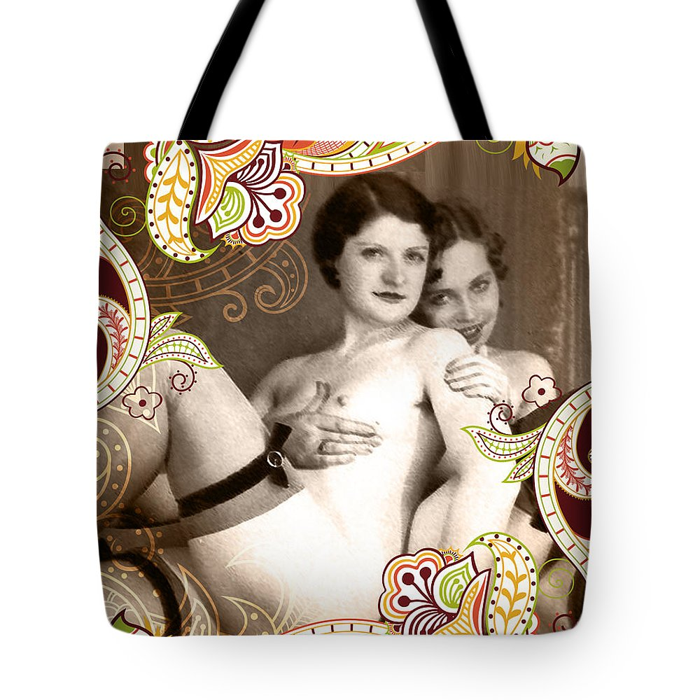 Nostalgic Seduction Tote Bag featuring the photograph Goddesses by Chris Andruskiewicz