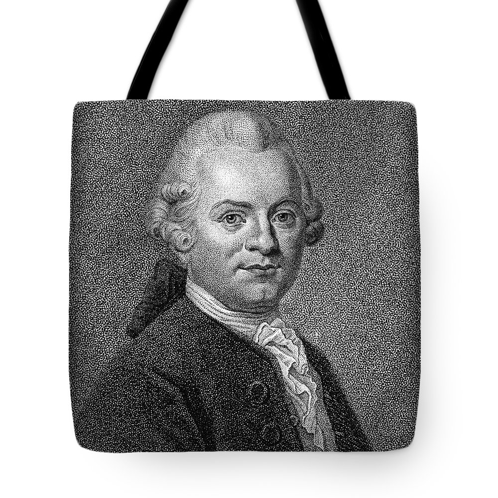 18th Century Tote Bag featuring the photograph Gotthold Ephraim Lessing by Granger