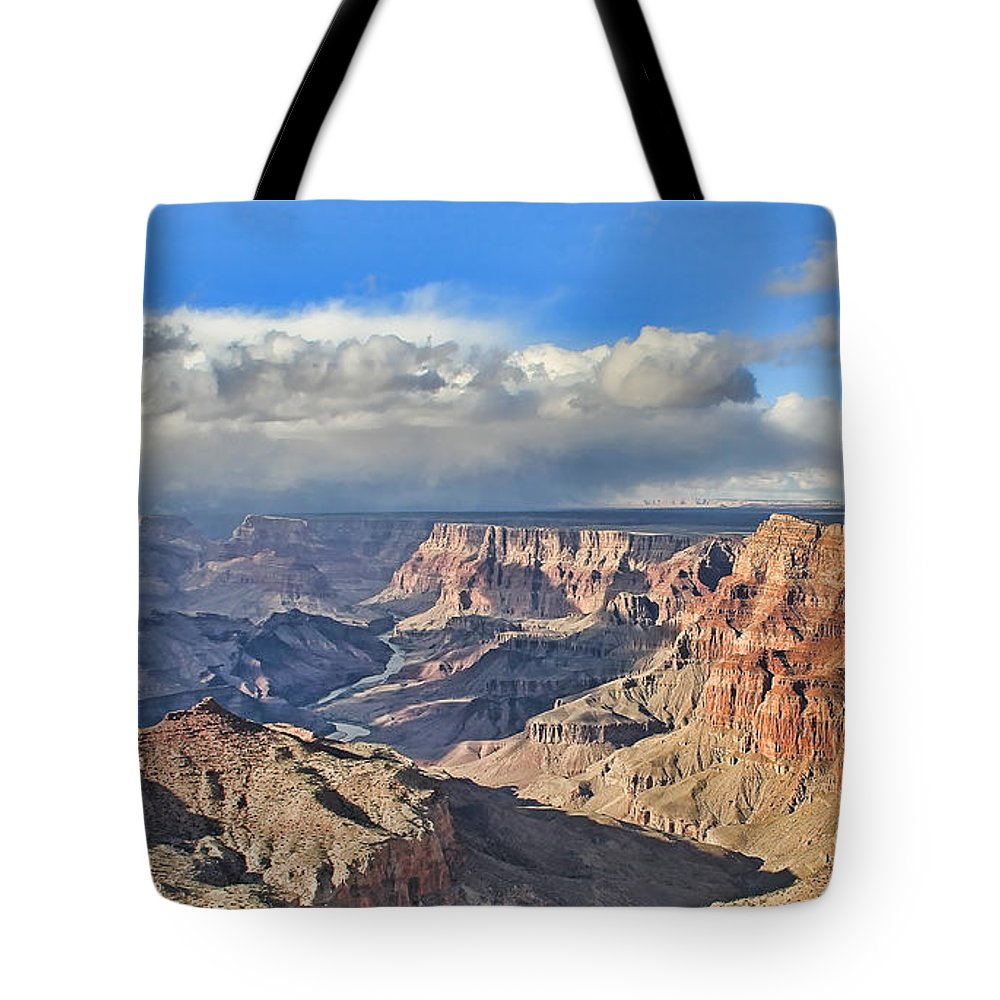 Grand Canyon National Park Tote Bag featuring the photograph Grand Canyon Overlook by Jack Schultz